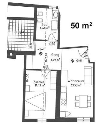 Appartamento verena 2 4 persone 50 mq i nostri for Appartamento 50